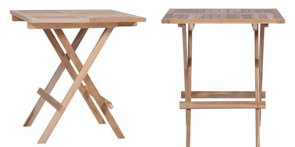 Mesa de teca plegable maciza en oferta en ManoMano