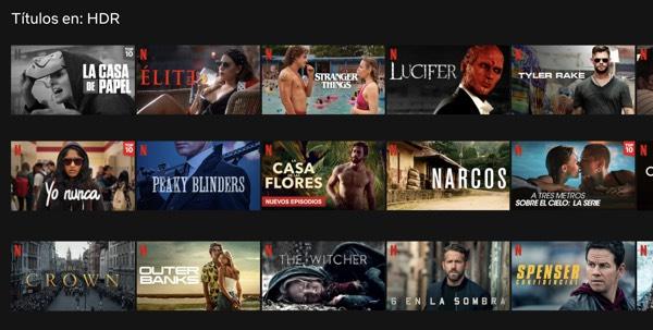 Series y películas HDR en Netflix