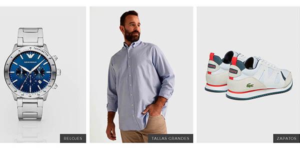 ofertas en ropa para hombre en El Corte Inglés