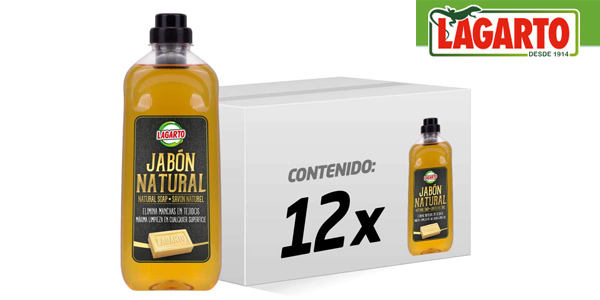 Pack x12 botellas Lagarto Jabón Natural Líquido Lagarto de 1070 gr chollazo en Amazon