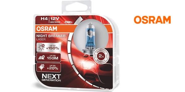 Pack x2 Lámparas de faro Osram Night Breaker Laser H4 Next Gen barato en Amazon