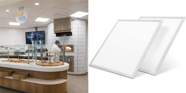 Pack x2 Paneles LED Ultra Slim LVWIT de 60x60cm barato en Amazon