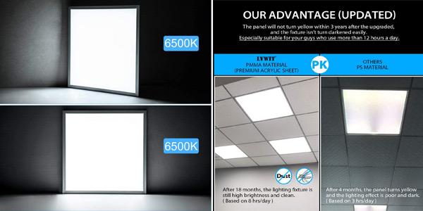 Pack x2 Paneles LED Ultra Slim LVWIT de 60x60cm chollo en Amazon