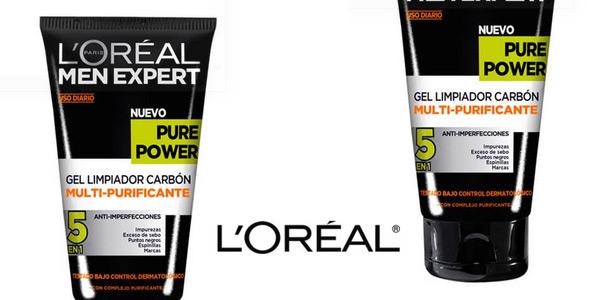 Pack L'Oréal Men Expert con Crema hidratante Pure Power 50 ml y Limpiador Pure Charcoal 100 ml chollazo en Amazon