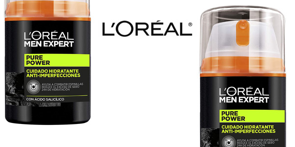 Pack L'Oréal Men Expert con Crema hidratante Pure Power 50 ml y Limpiador Pure Charcoal 100 ml chollo en Amazon