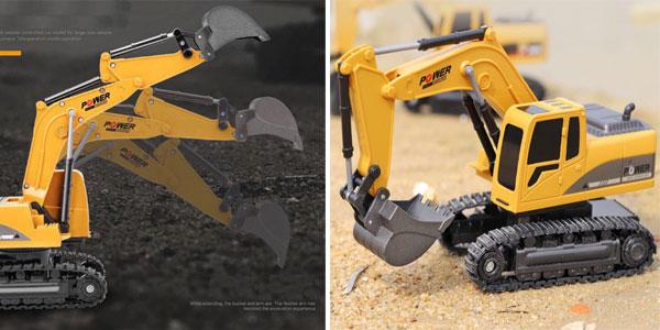 Excavadora de juguete RC de 2,4 GHz chollazo en AliExpress