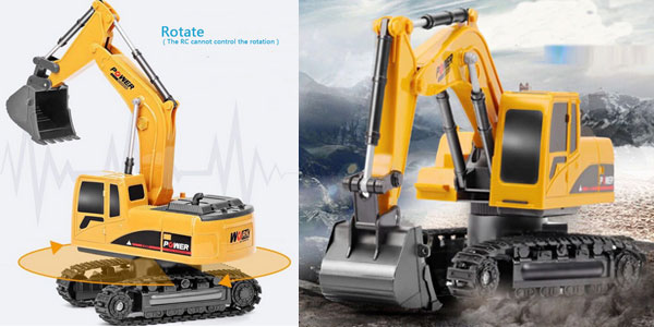 Excavadora de juguete RC de 2,4 GHz barata