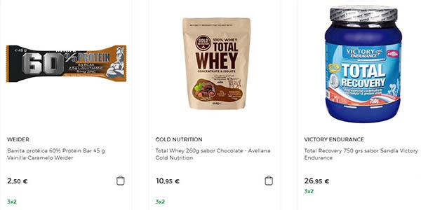 productos en nutrición deportiva 3x2 El Corte Inglés