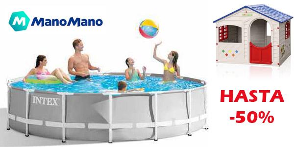 Hasta 50% de descuento en piscinas y productos para refrescarte de ManoMano