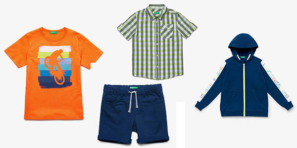 promoción en ropa infantil de Benetton chollos
