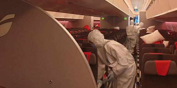 protocolo desinfección aviones Iberia filtración de aire
