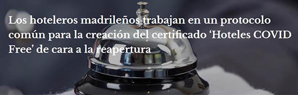 "protocolo ""Hoteles Covid Free"" España"