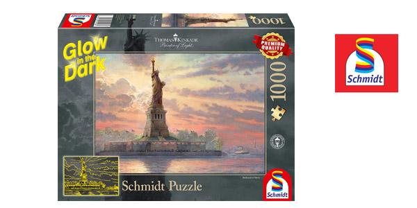 Puzle Schmidt 1000 piezas Estatua de la Libertad en la Noche (brilla en la oscuridad) barato en Amazon