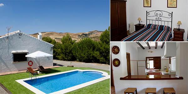 Rincón de Arriba casa con piscina para grupos en Caminito del Rey barata