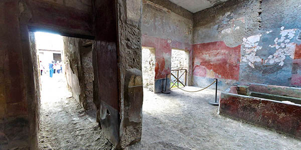 ruinas de la ciudad antigua de Pompeya visita virtual