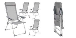 Pack de 4 sillas plegables para exterior baratas en ManoMano