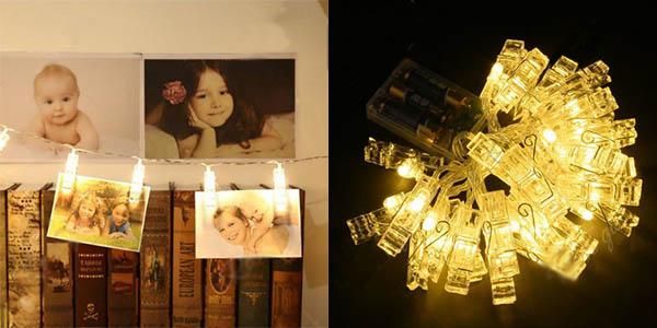Luces LED decorativas para colgar fotos