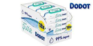 Pack x18 paquetes Toallitas Dodot Aqua Pure para bebé