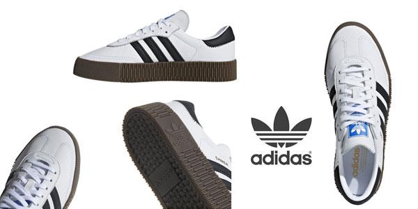 Chollazo Zapatillas casual Adidas Sambarose para mujer por ...