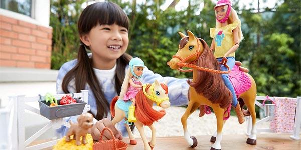 Playset Barbie & Chelsea Hugs'N'Horses con caballos y accesorios (Mattel FXH15) chollo en Amazon