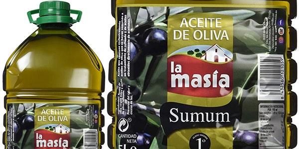 Aceite de oliva 5 litros La Masia Sumum barato en Amazon