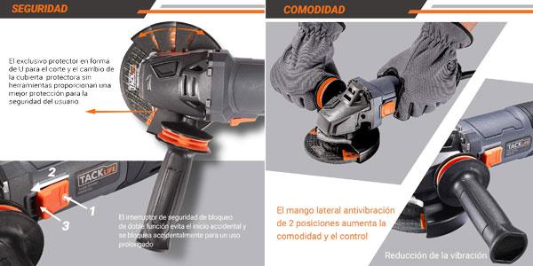 Amoladora Angular TACKLIFE de 900W y 12.000 rpm chollo en Amazon