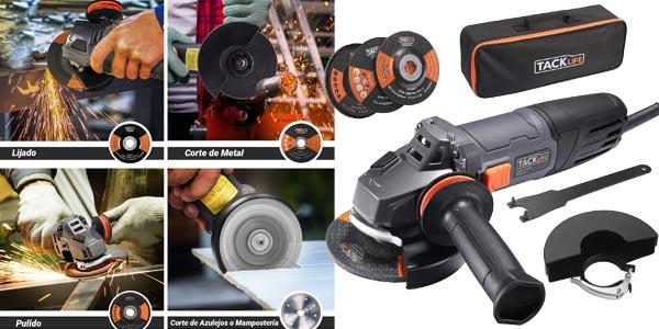 Amoladora Angular TACKLIFE de 900W y 12.000 rpm barata en Amazon