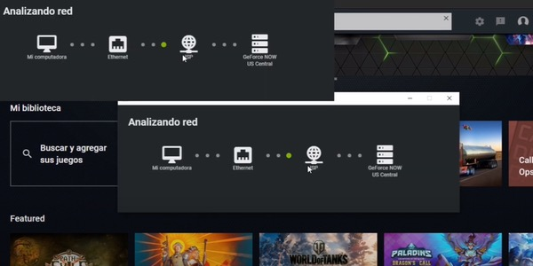analizando red GeForce Now