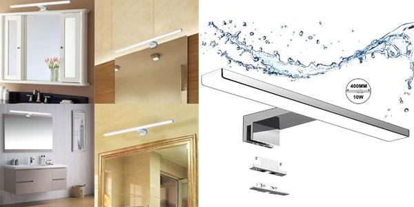 Aplique Luz LED Aogled para espejo de baño barato en Amazon