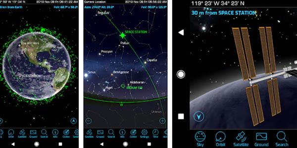 App móvil Orbitrack para rastrear satélites gratis