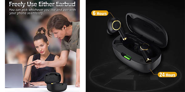 auriculares por Bluetooth con cargador portátil Bluedio P oferta