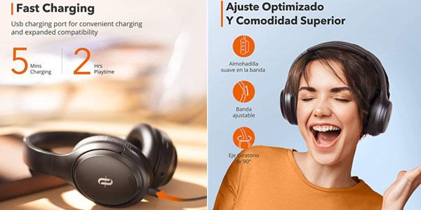 Auriculares Inalambricos Bluetooth TaoTronics TT-BH090 ES chollo en Amazon