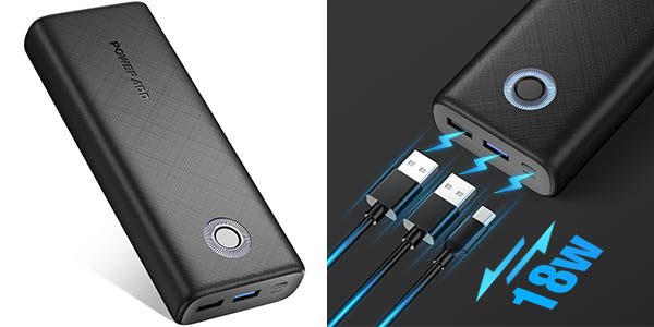 Bateria portátil Poweradd de 20.000 mAh QC18W