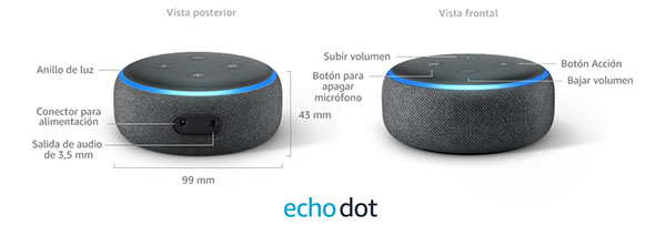 Botones del Amazon Echo dot