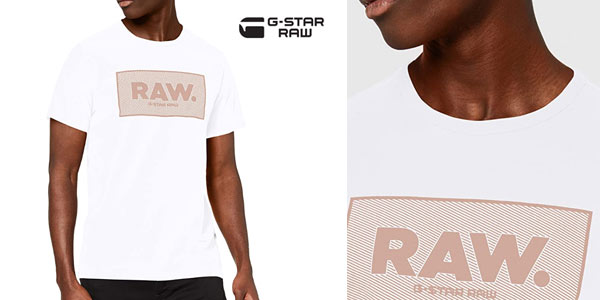 Camiseta G Star RAW Boxed Straight Fit para hombre barata