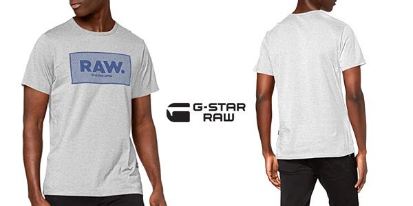 Camiseta de manga corta G-STAR RAW Boxed Straight Fit para hombre chollo en Amazon