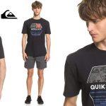 Camiseta de manga corta Quiksilver Drift Away para hombre barata en Amazon