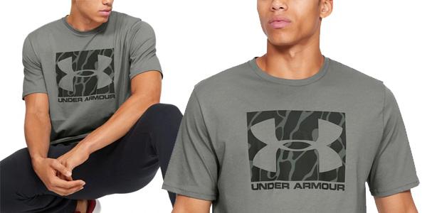 Reorganizar público sorpresa  Chollo Camiseta Under Armour Camo Boxed Logo para hombre por sólo 13,49€  (48% de descuento)