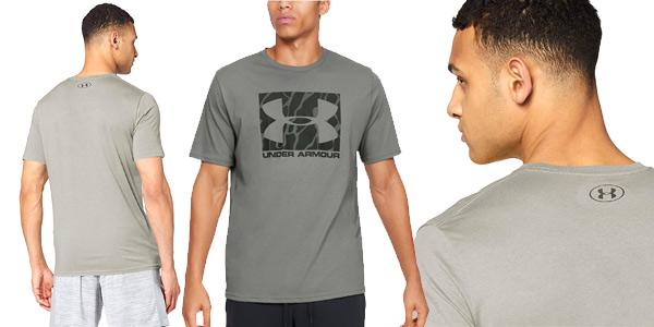 Camiseta manga corta Under Armour Camo Boxed Logo para hombre chollo en Amazon