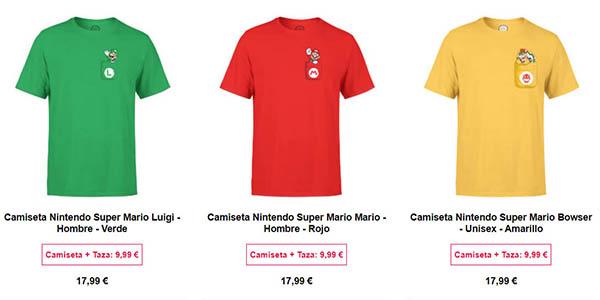 camiseta y taza de Super Mario oferta en Zavvi