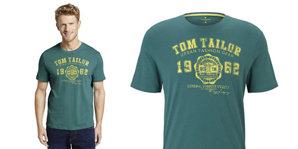 Camiseta Tom Tailor Logo para hombre barata en Amazon