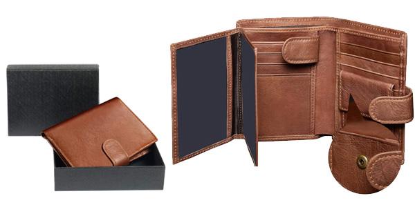 Billetera Corspake de cuero para hombre con caja de regalo barata en Amazon