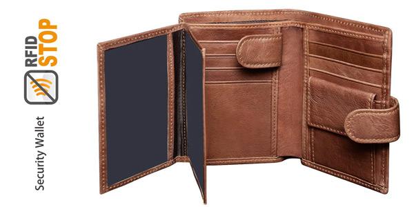 Billetera Corspake de cuero para hombre con caja de regalo chollo en Amazon
