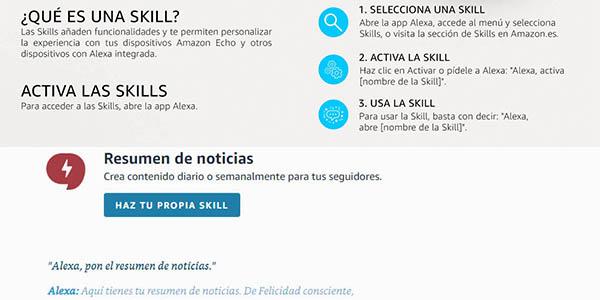 configurar skills de Alexa personalizar dispositivos de Amazon