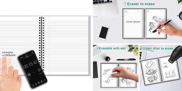 "Cuaderno ""inteligente"" Newyes A4 reutilizable chollo en AliExpress"