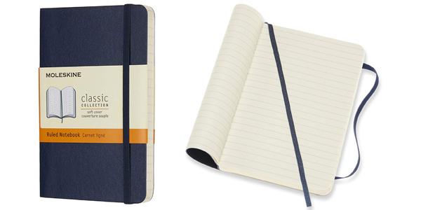 Cuaderno Clásico Moleskine con Páginas Rayadas de bolsillo barato en Amazon