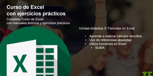 Curso de Excel con ejercicios prácticos con cupón descuento en Udemy