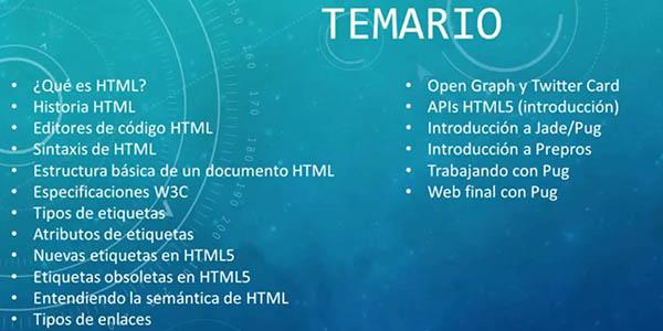 curso Udemy gratis para aprender lenguaje HTML
