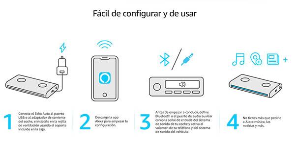 Amazon Echo configuración fácil en el coche