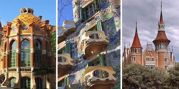 escapada para hacer la ruta del modernismo en Barcelona con alojamientos baratos